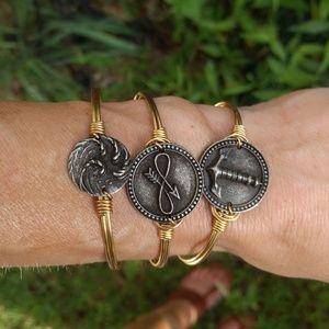 Luca + Danni Jewelry - Set of 3 Luca + Danni Brass Bangle Bracelets